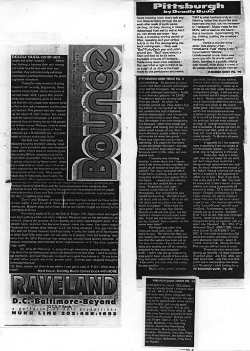 """Soul"" Scene Report by DJ Deadly Buda Mid October 1993"