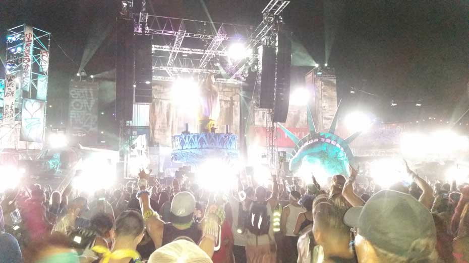 Basscon Wasteland area at EDC Las Vegas 2015